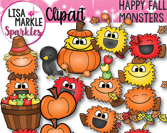 Scarecrow clipart tree. Fall autumn monster leaves
