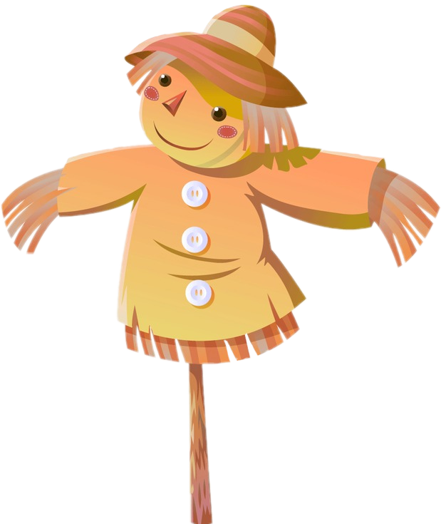 Scarecrow transparent colored. Colorful cute nice colors