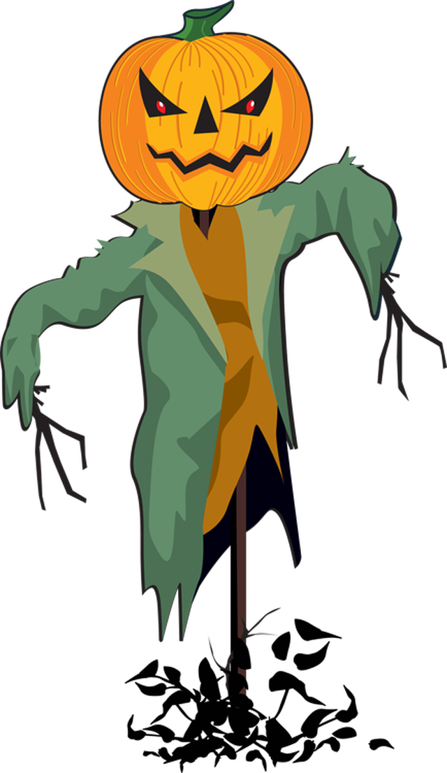 Scarecrow vector scary. Halloween image transparent download