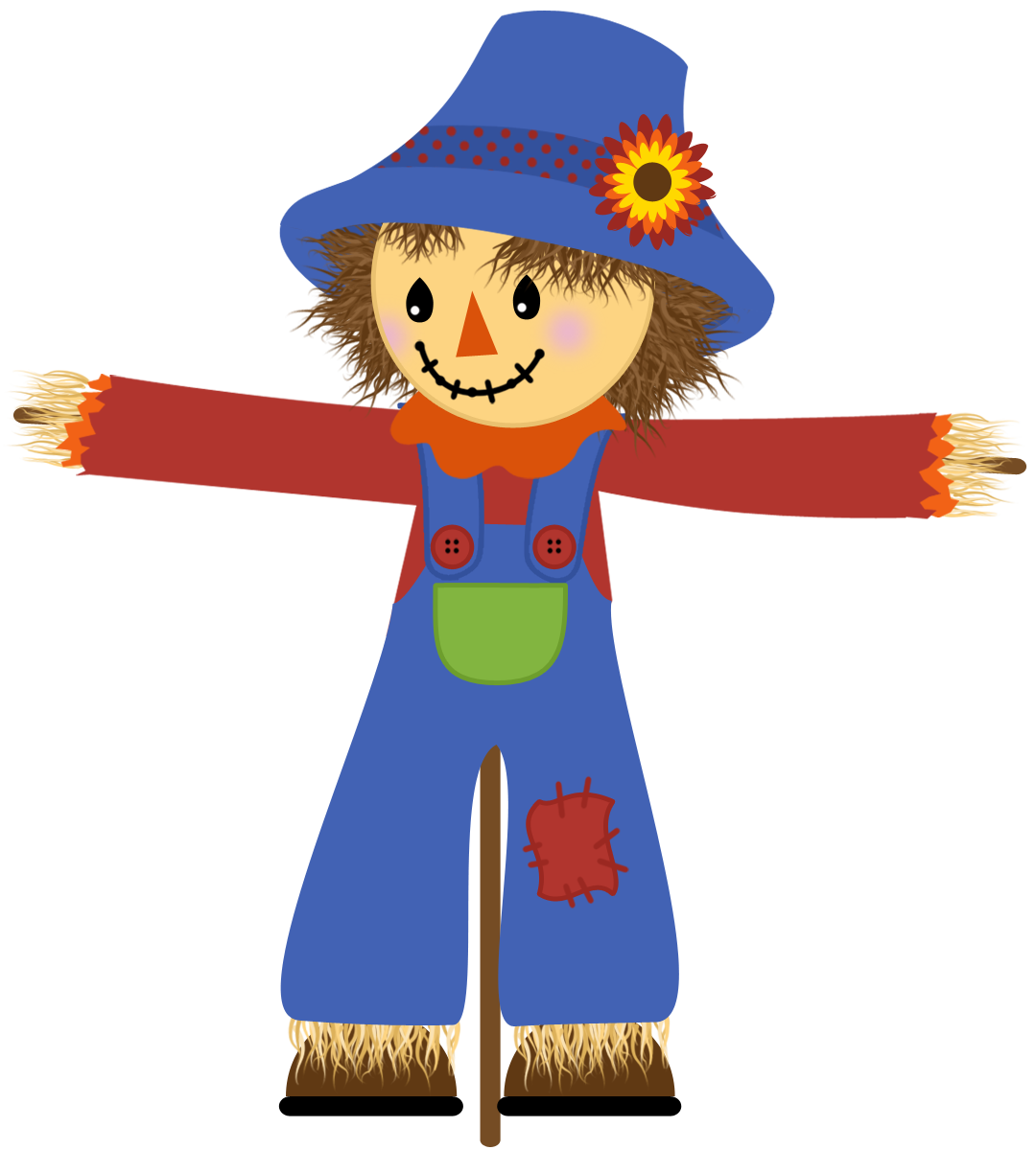 Scarecrow transparent lady. Scare crow clipart