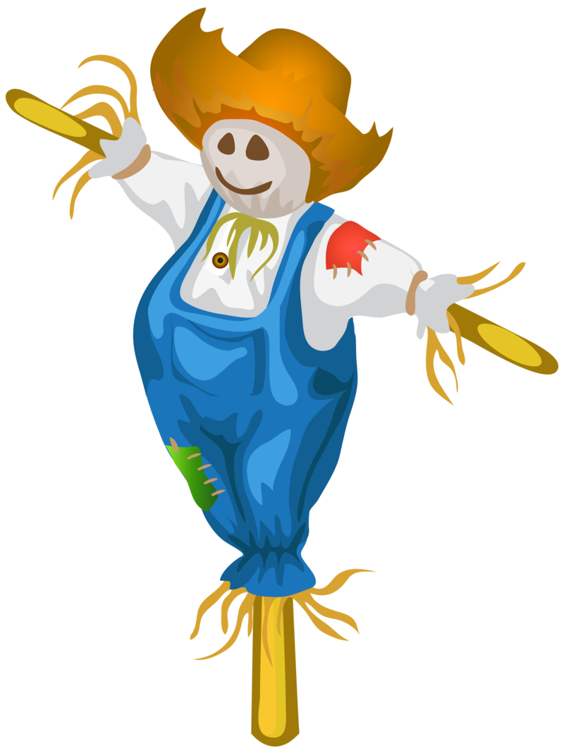 Download free png background. Scarecrow transparent colored clip art library download
