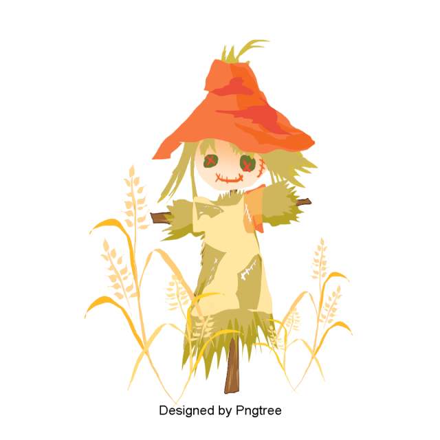 Scarecrow vector abstract. Exquisite cartoon lovely hand