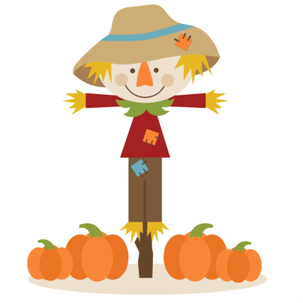Scarecrow vector animated. Clipart huge freebie