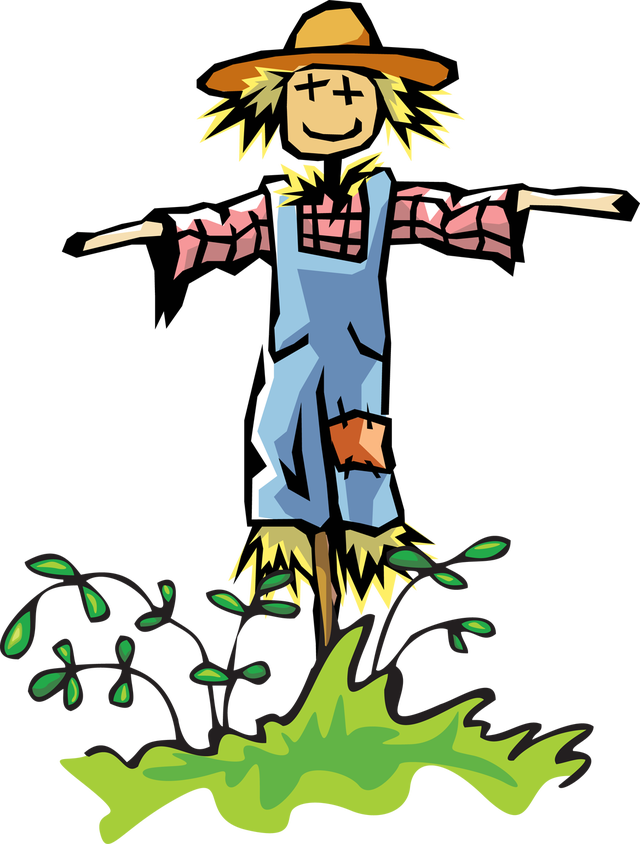 Scarecrow vector animated. Free clipart image clipartix