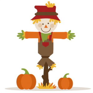 Scarecrow vector cute. With pumpkins http www