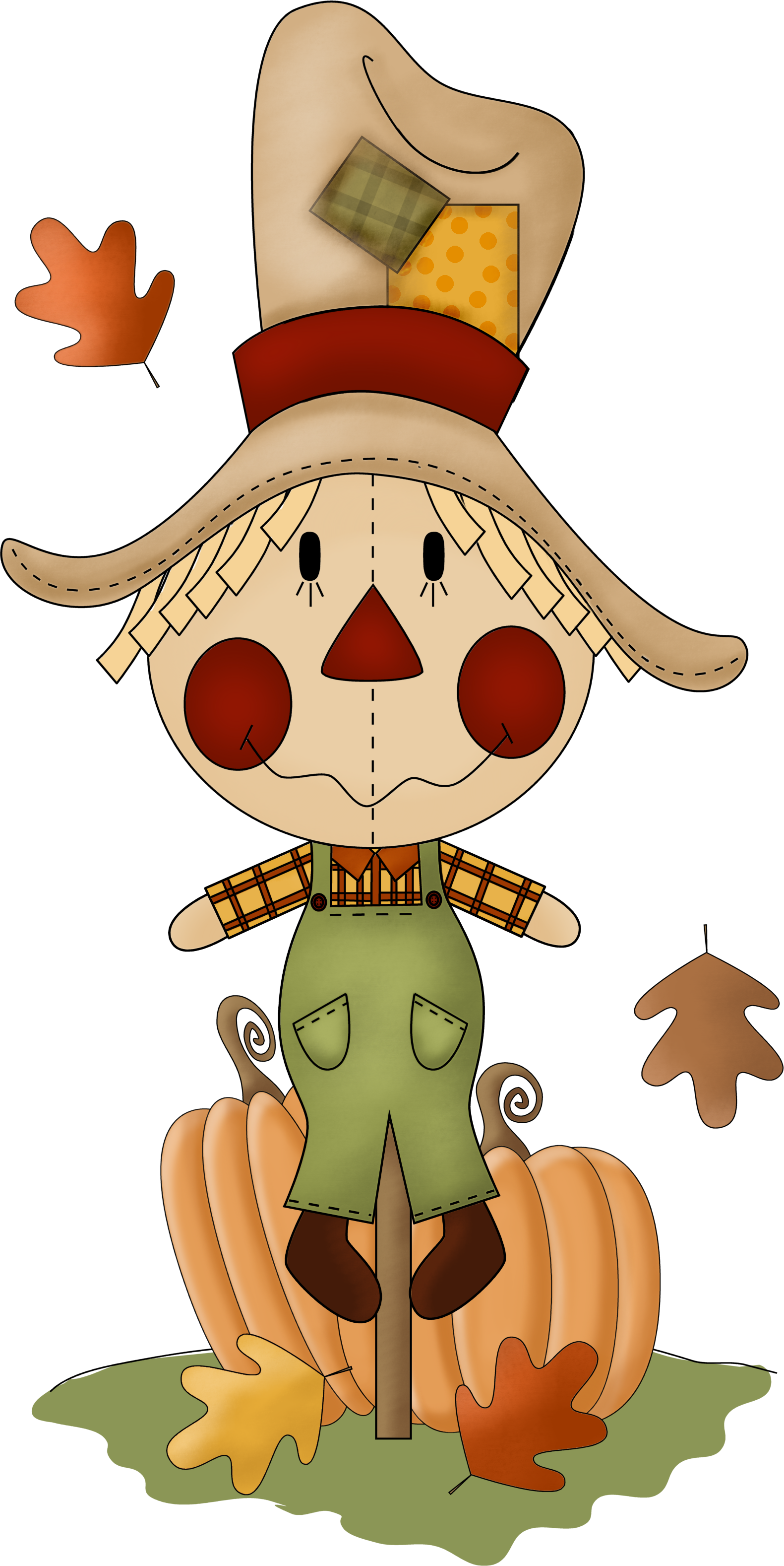 Scarecrow vector field clipart. Clip art fall autumn