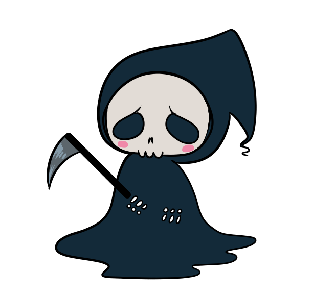 Transparent reaper demon. Tiny for your blog