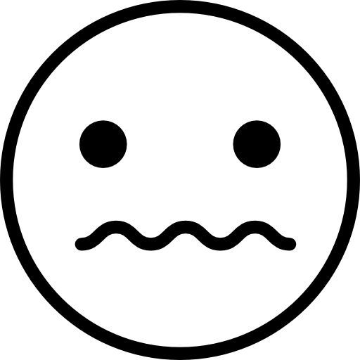 Scared face png. Scare outlined sad halloween