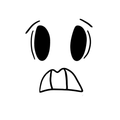 Scared face png. Roblox
