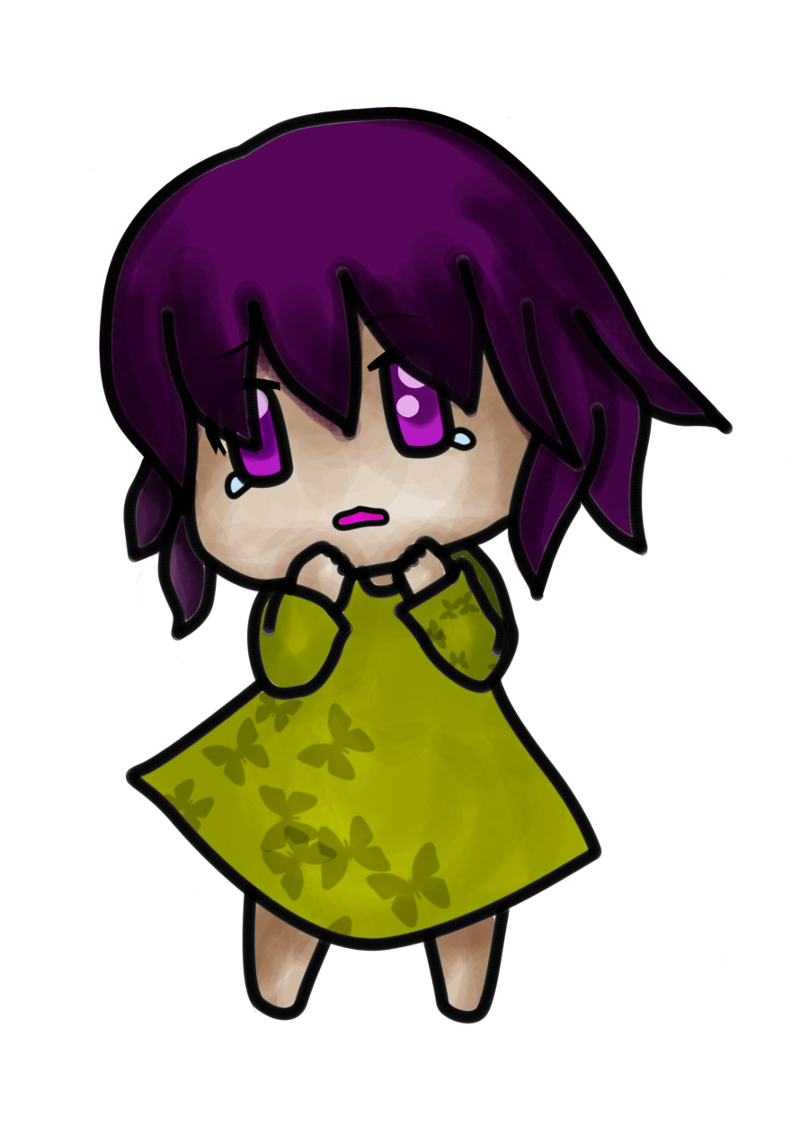 Scared girl png. Chibi by agnitami on