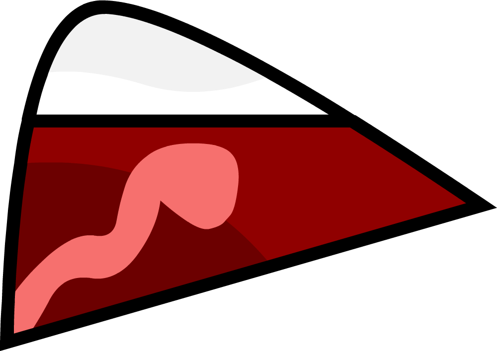 Scared mouth png. Image unjoiced bfdi style