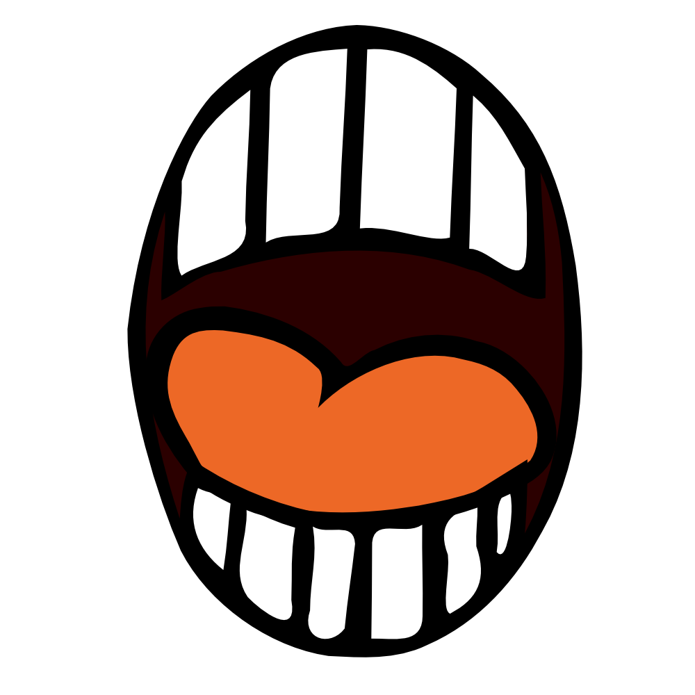 Scared mouth png. Onlinelabels clip art open