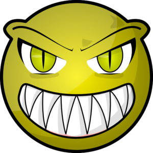 Vector monster creepy. Face clip art at