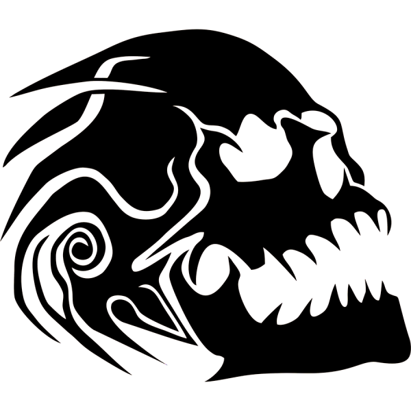 Sureno drawing skull. Evil vinyl decal sticker