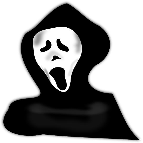 Ghost scary art at. Scariest clip black and white jpg transparent