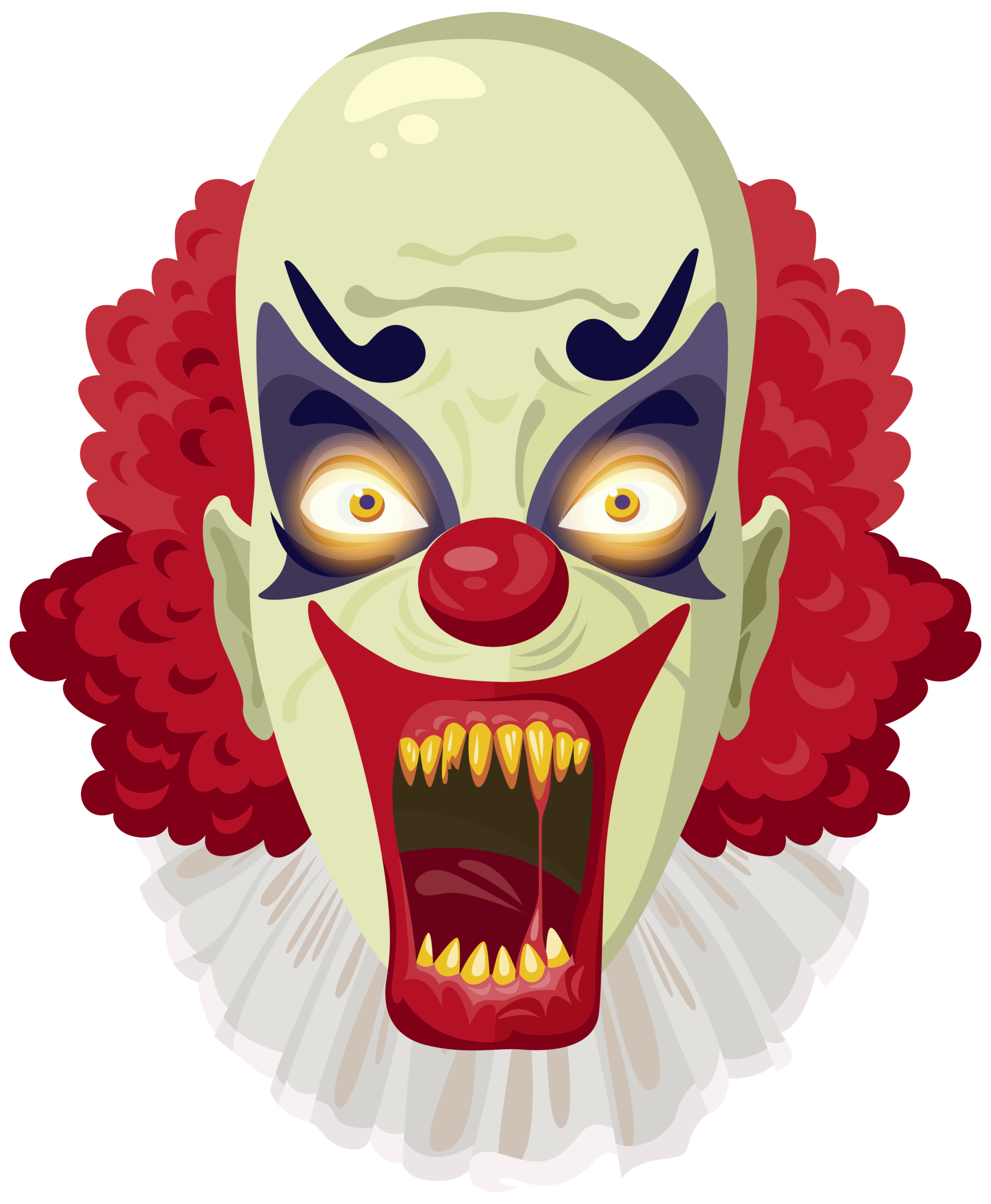 Scary clipart image gallery. Evil clown png banner free library