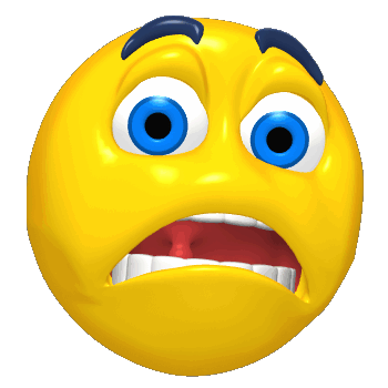 Scare clip feeling faces. Emotions clipart scared person