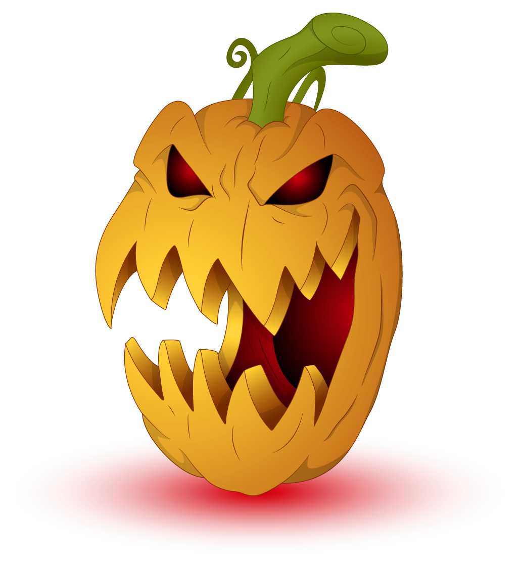 scary clipart pumpkin