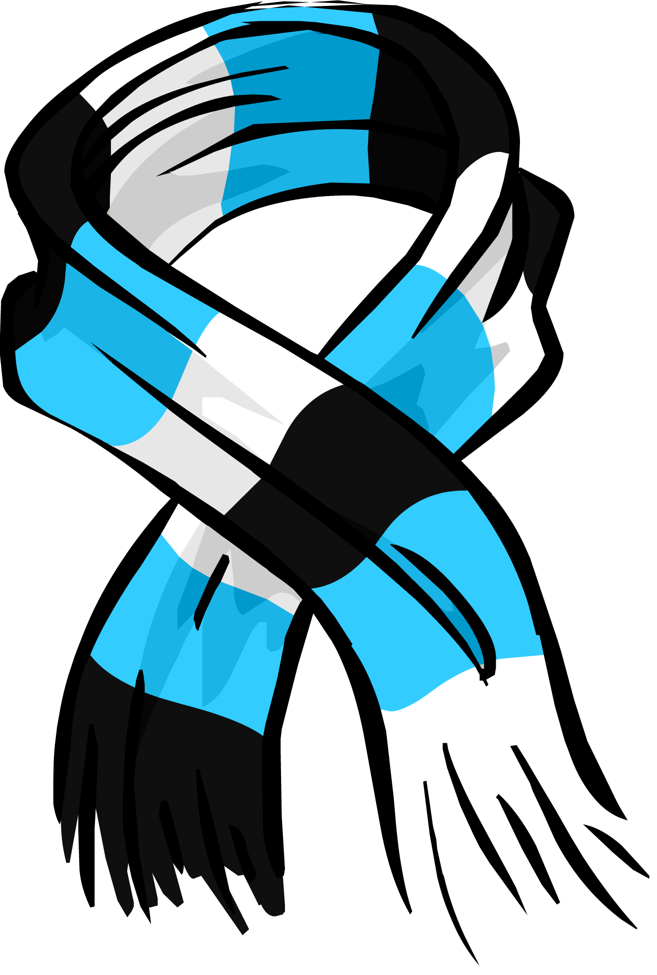 Scarf clipart png. Blue striped image purepng