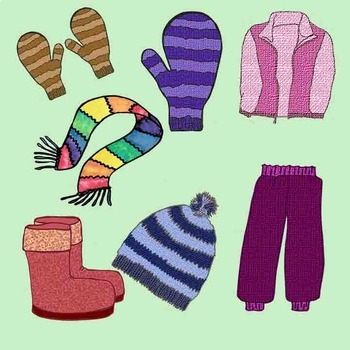 Scarf clipart snowpant. Winter clothing clip art
