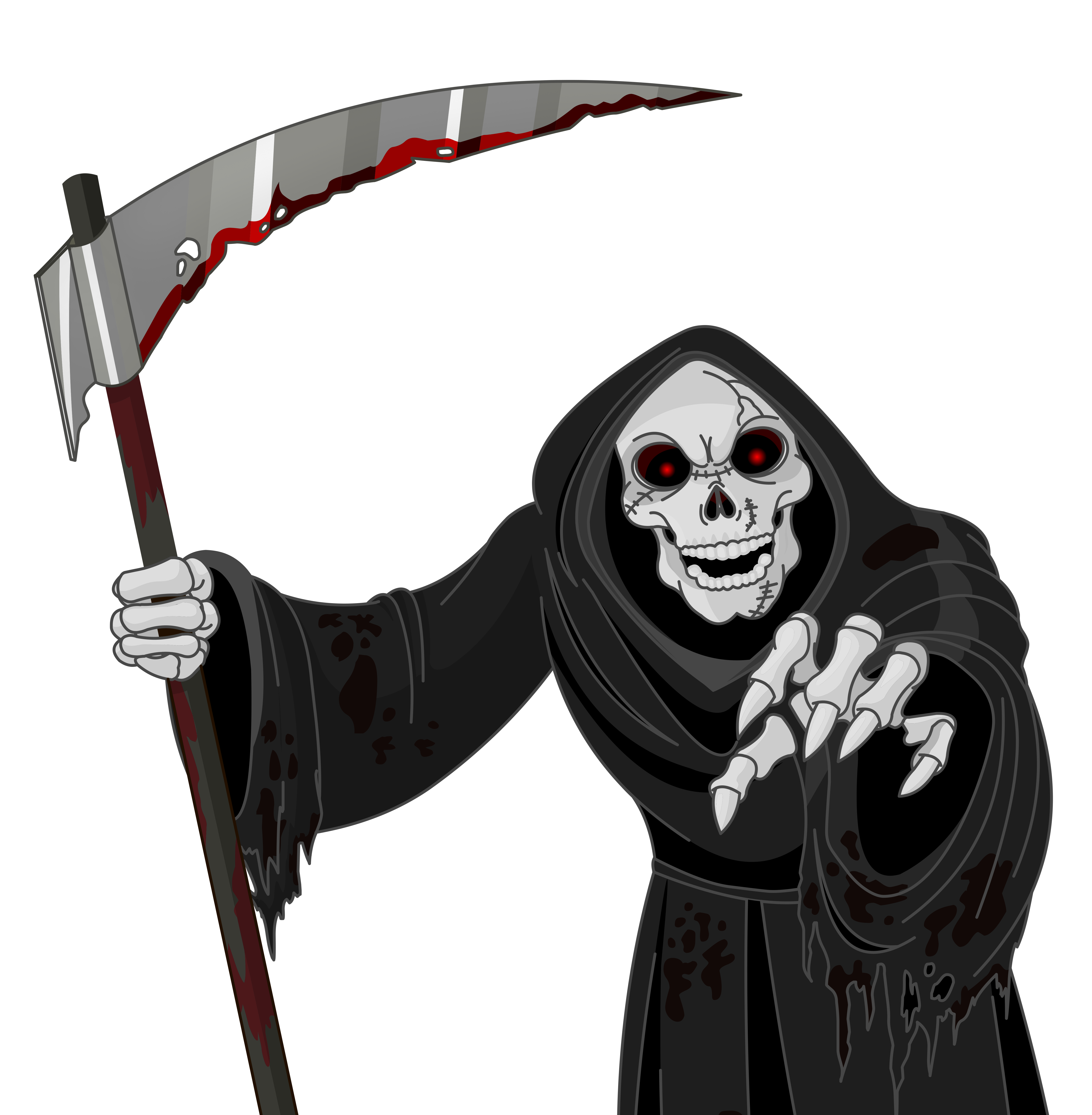 Scary border png. Grim reaper vector clipart