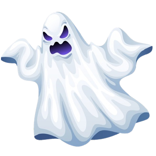 Halloween art scary cartoon. Ghost clip spooky picture freeuse download