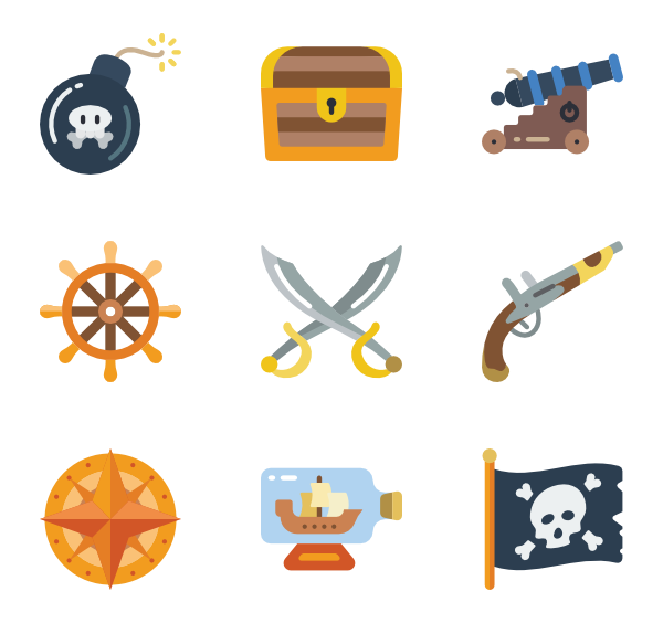 Scary clipart pirate. Life free icons svg