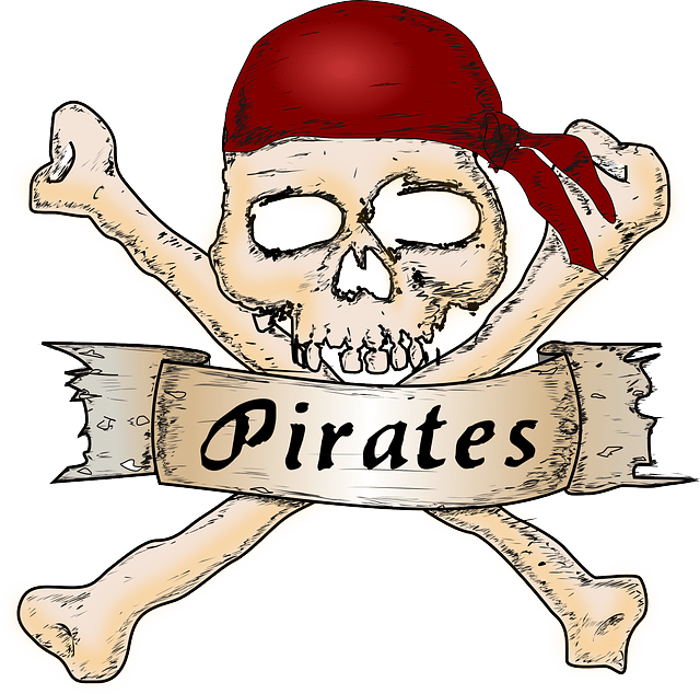 Scary clipart pirate. Jokes for kids fun