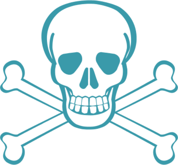 Scary clipart pirate. Skull bones pirates danger