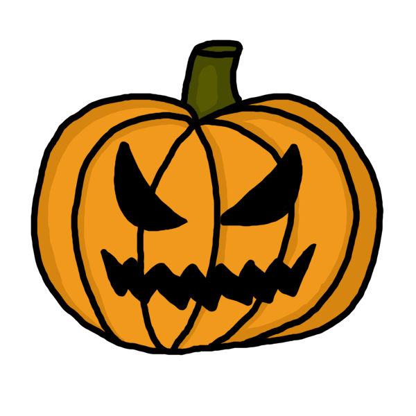 Scary clipart pumpkin.
