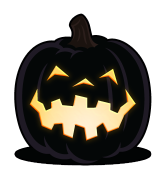 Scary clipart scary pumpkin patch. Crooked smile carving pattern