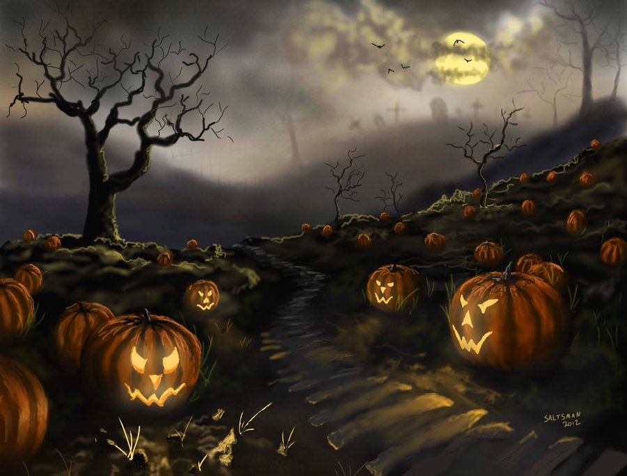 Scary clipart scary pumpkin patch. Drawing at getdrawings com