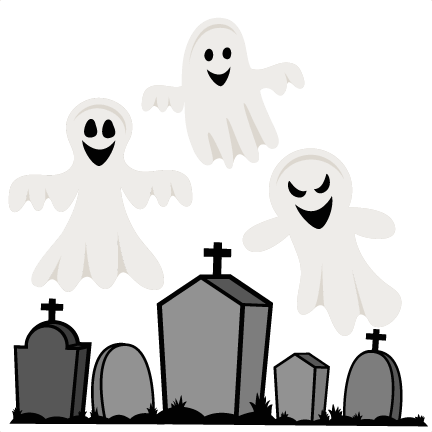 Scary clipart spooky cemetery. Halloween graveyard great free