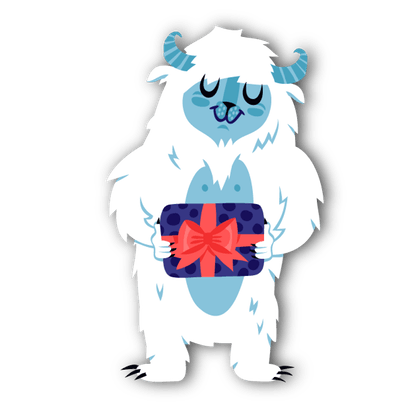Scary clipart yeti. Stickerpop tommy by gifting