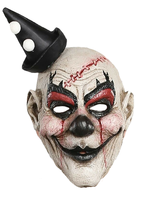 Scary clown face png. Mask sticker by momo
