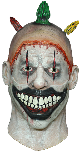 Scary clown face png. American horror story twisty