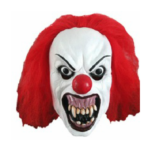 Scary clown face png. Classic costume halloween
