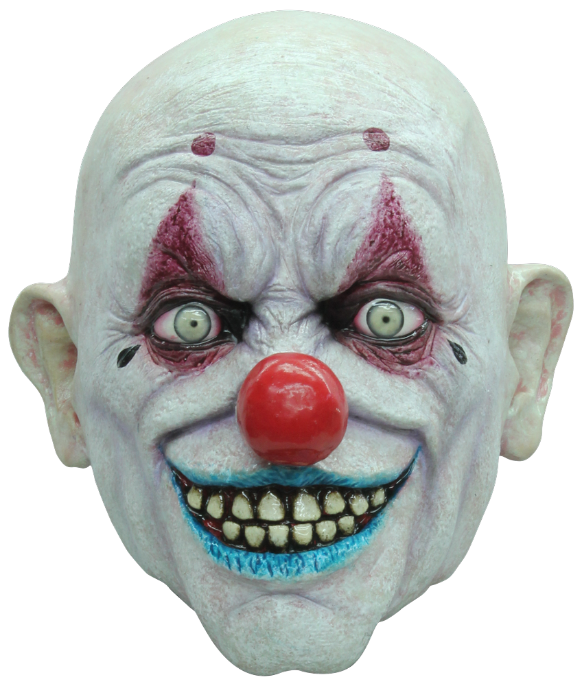 Scary clown face png. Crappy the halloween mask