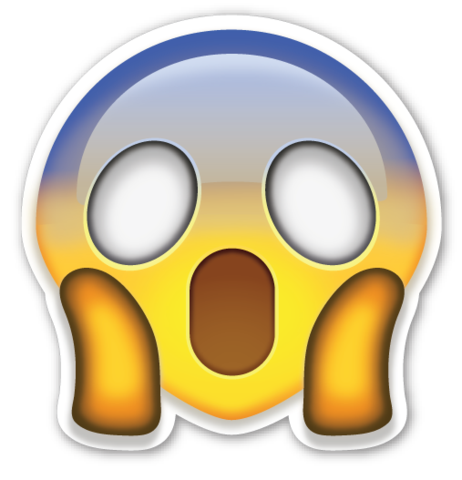 Scary emoji png. Face screaming in fear