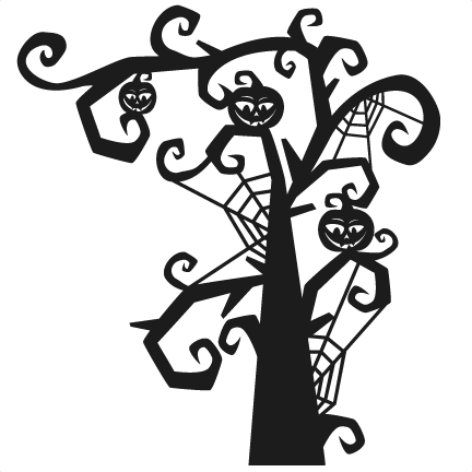 Scary halloween png images. Spooky tree silhouette at