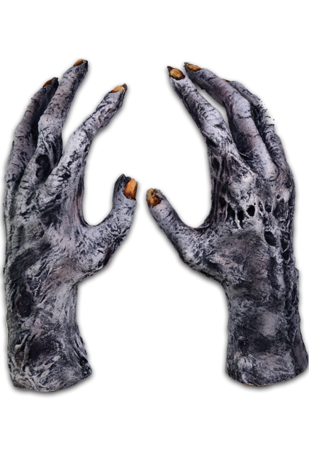 Scary hand png. Chiller zombie gloves rotting
