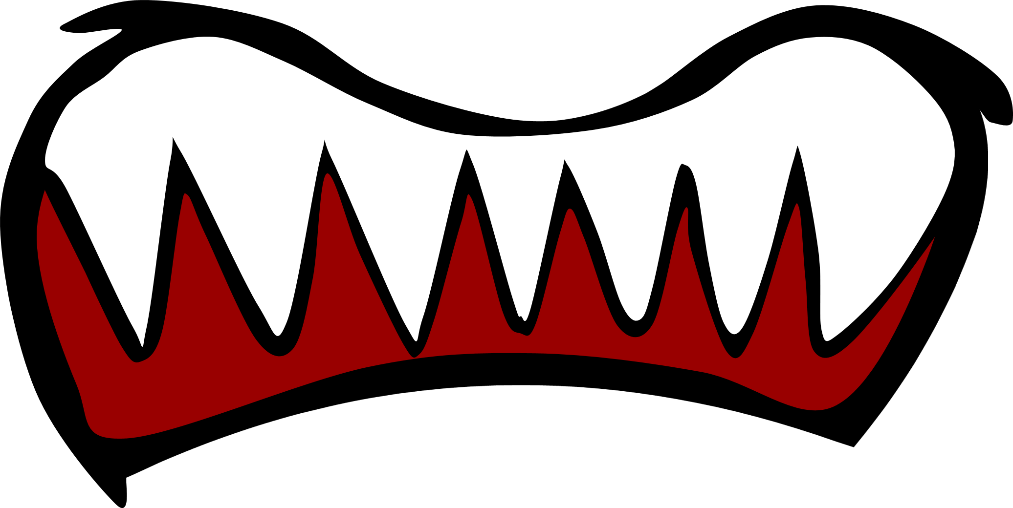 Scary mouth png. Image new scared battle
