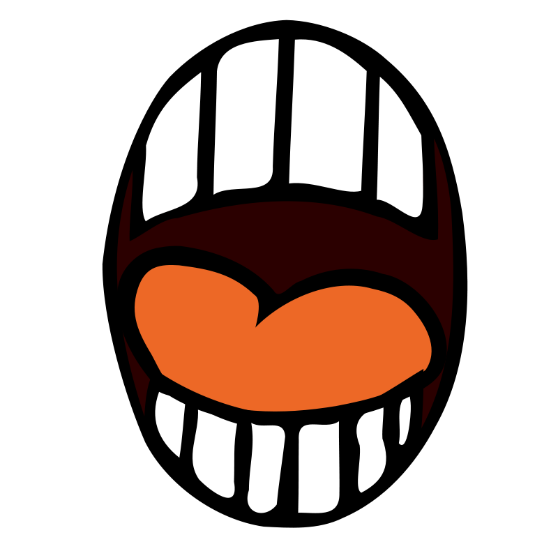 Scary mouth png. Clipart