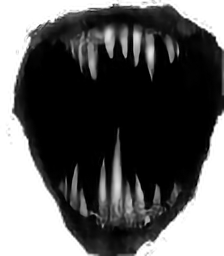 scary mouth png