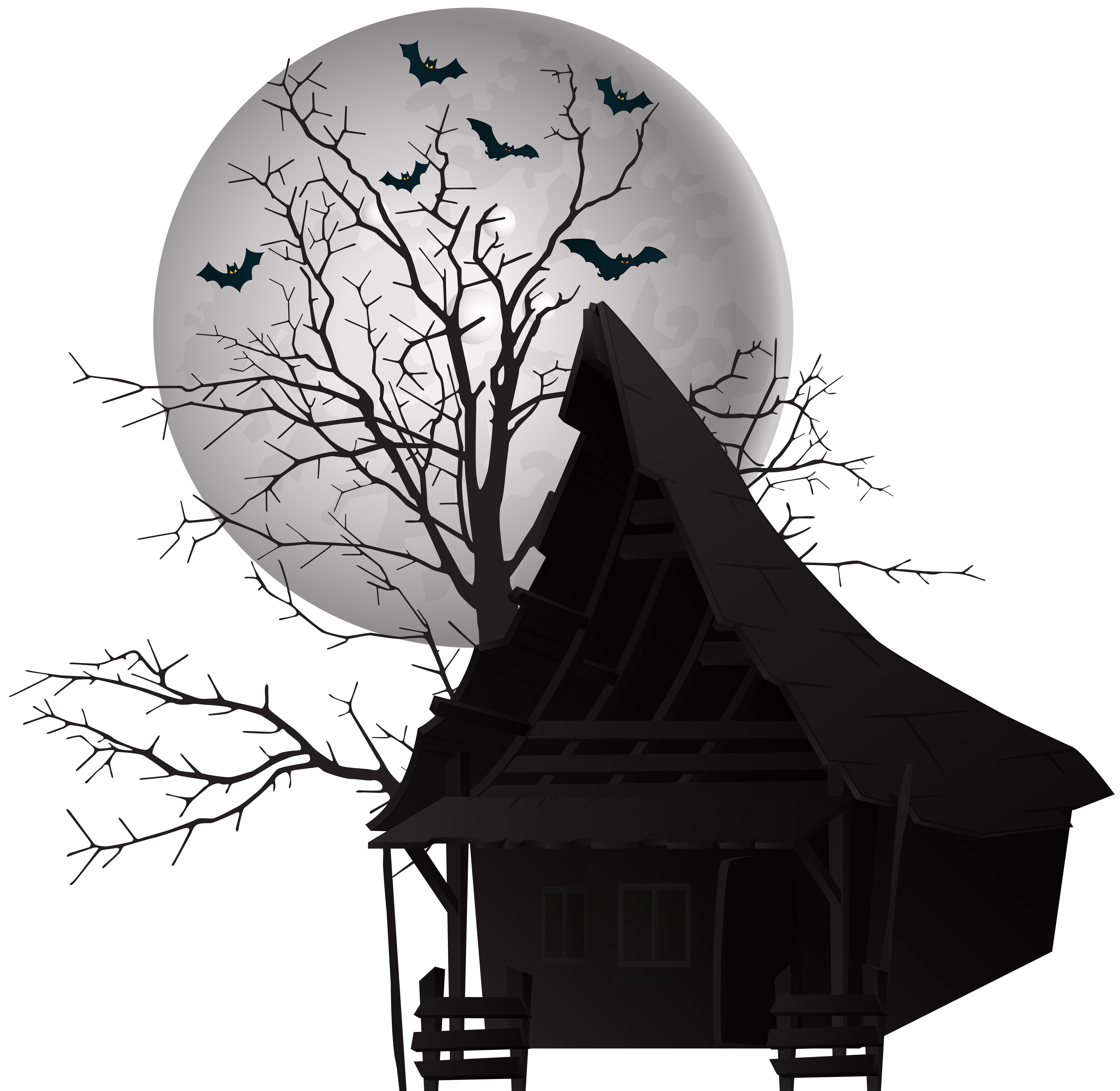 Scary png. Halloween house clip art