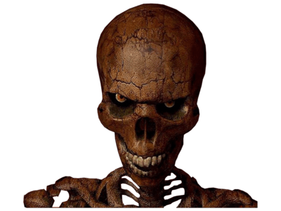 Scary skull png. Halloween transparent stickpng download
