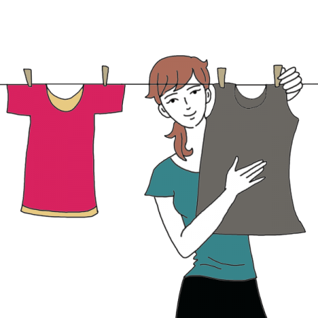 scattered clothes png