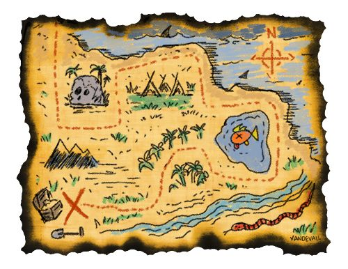 Scavenger hunt clipart life map. Best treasure and