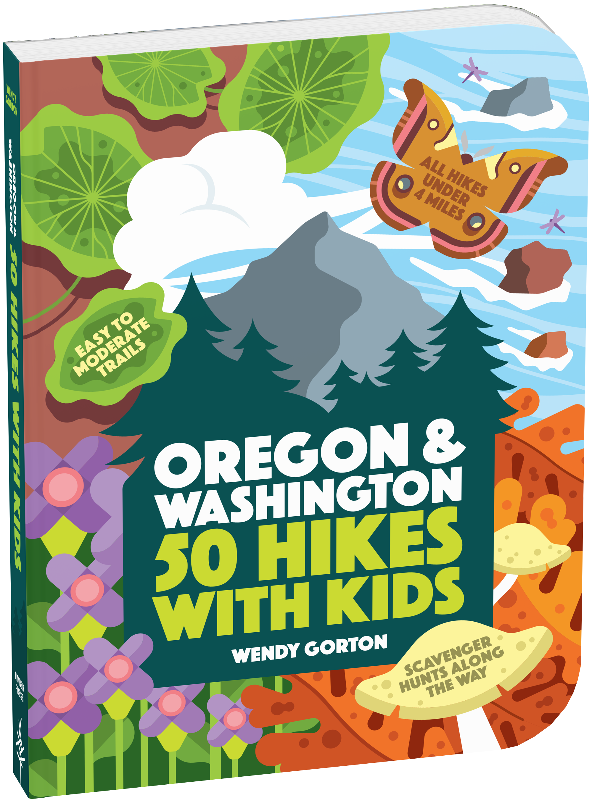 Scavenger hunt clipart trail map. Hikes with kids