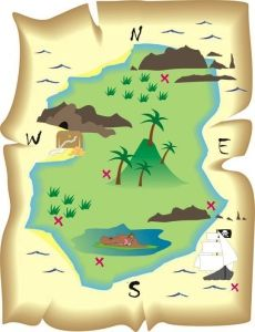 scavenger hunt clipart trail map